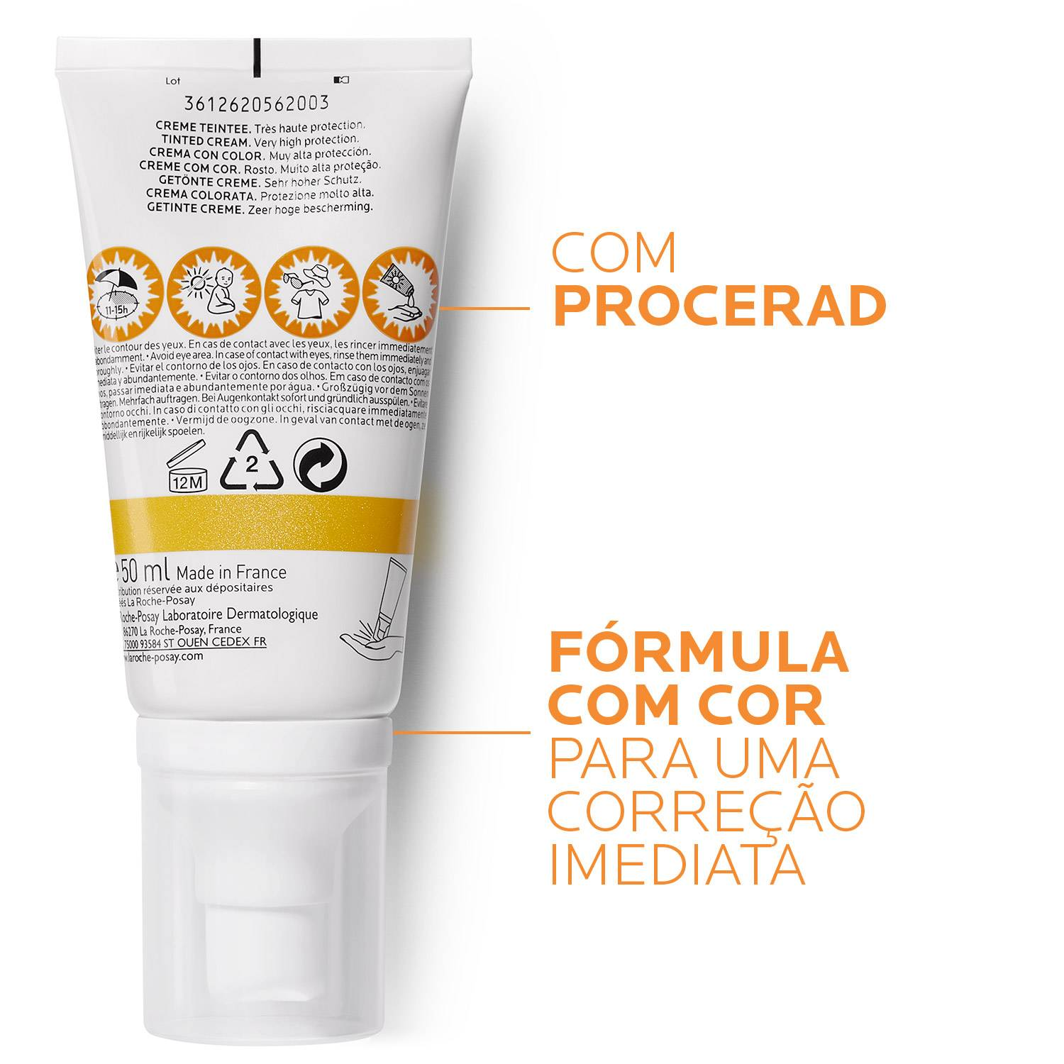 La Roche Posay ProductPage Sun Anthelios Pigmentation Tinted Spf50 50m