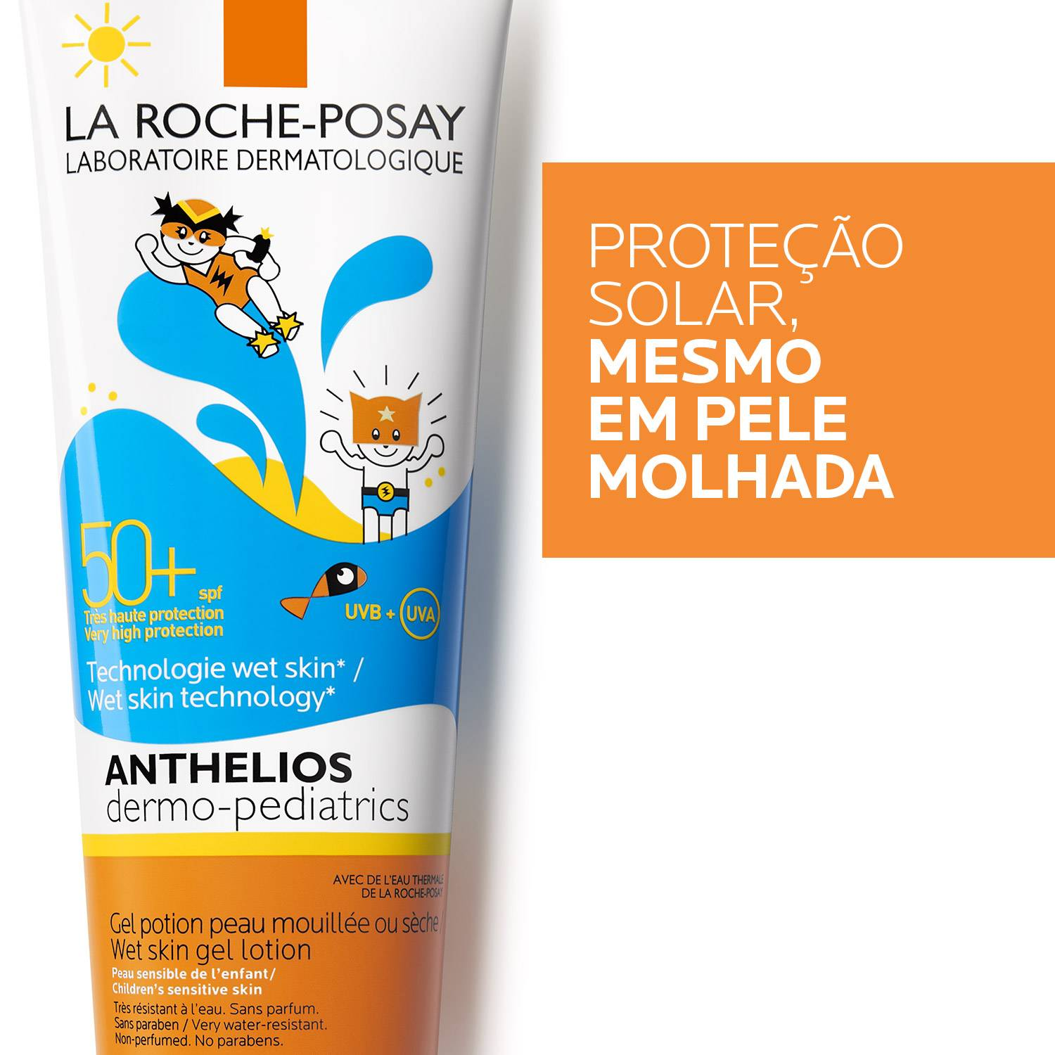 La Roche Posay ProductPage Sun Anthelios Wet Skin Gel DP Spf50 3337875