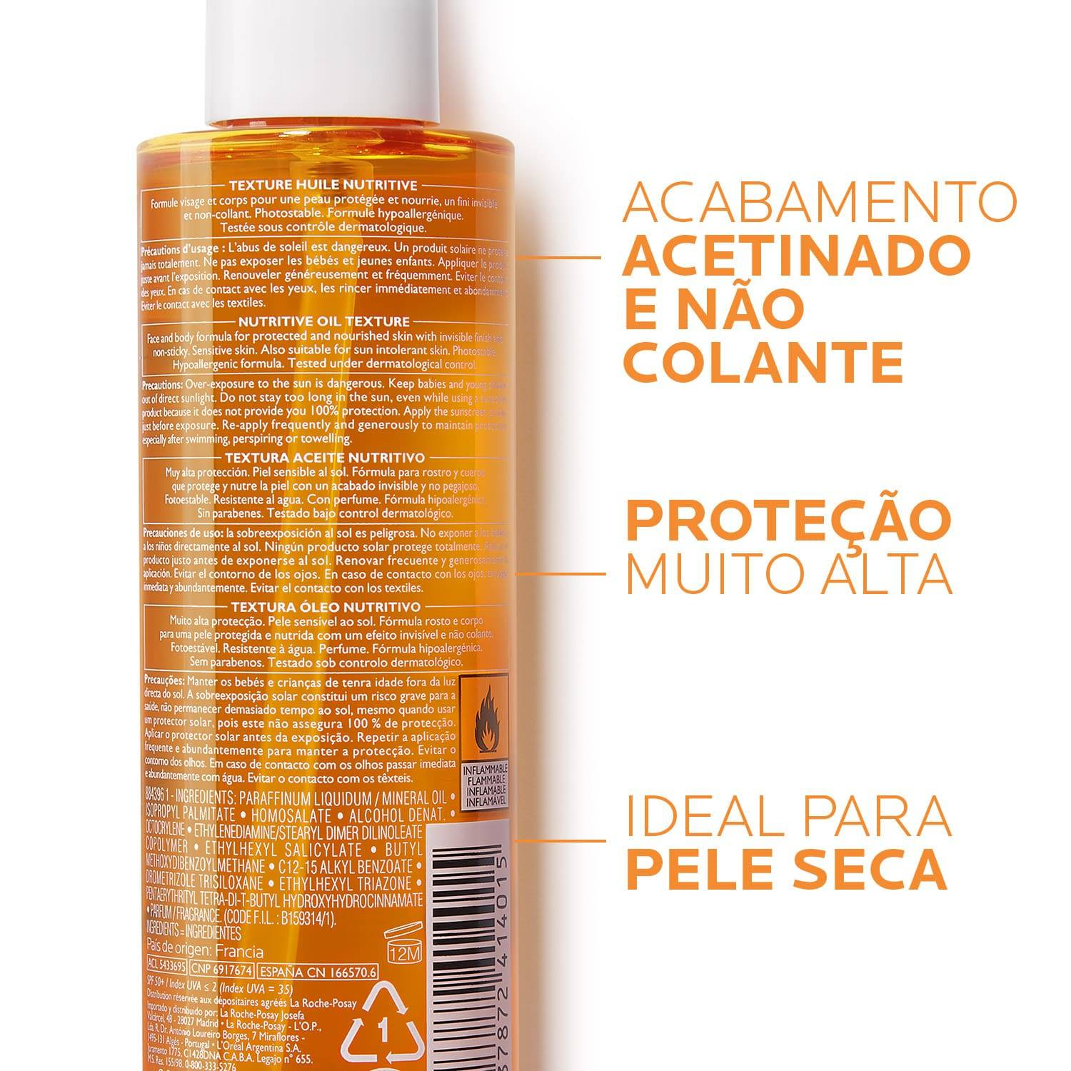 La Roche Posay ProductPage Sun Anthelios XL Nutritive Oil Spf50 200ml