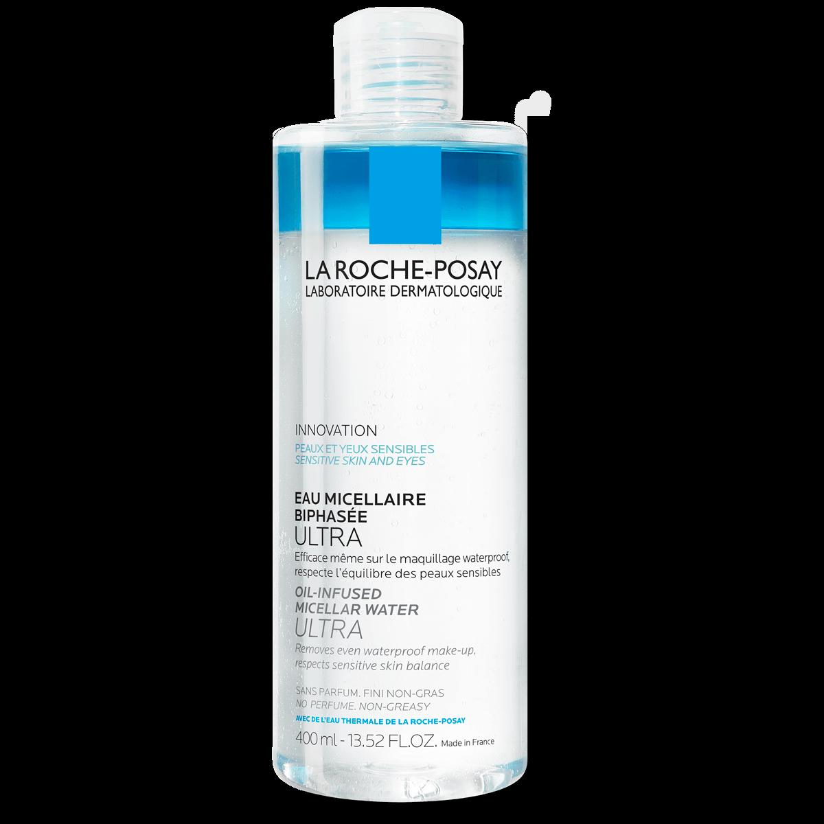 Água Micelar Ultra Bifásica, remove até maquilhagem à prova de água | La Roche-Posay