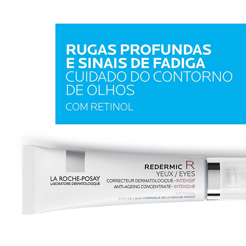 Redermic R Olhos Concentrado Antienvelhecimento com Retinol para Contorno dos Olhos | La Roche-Posay