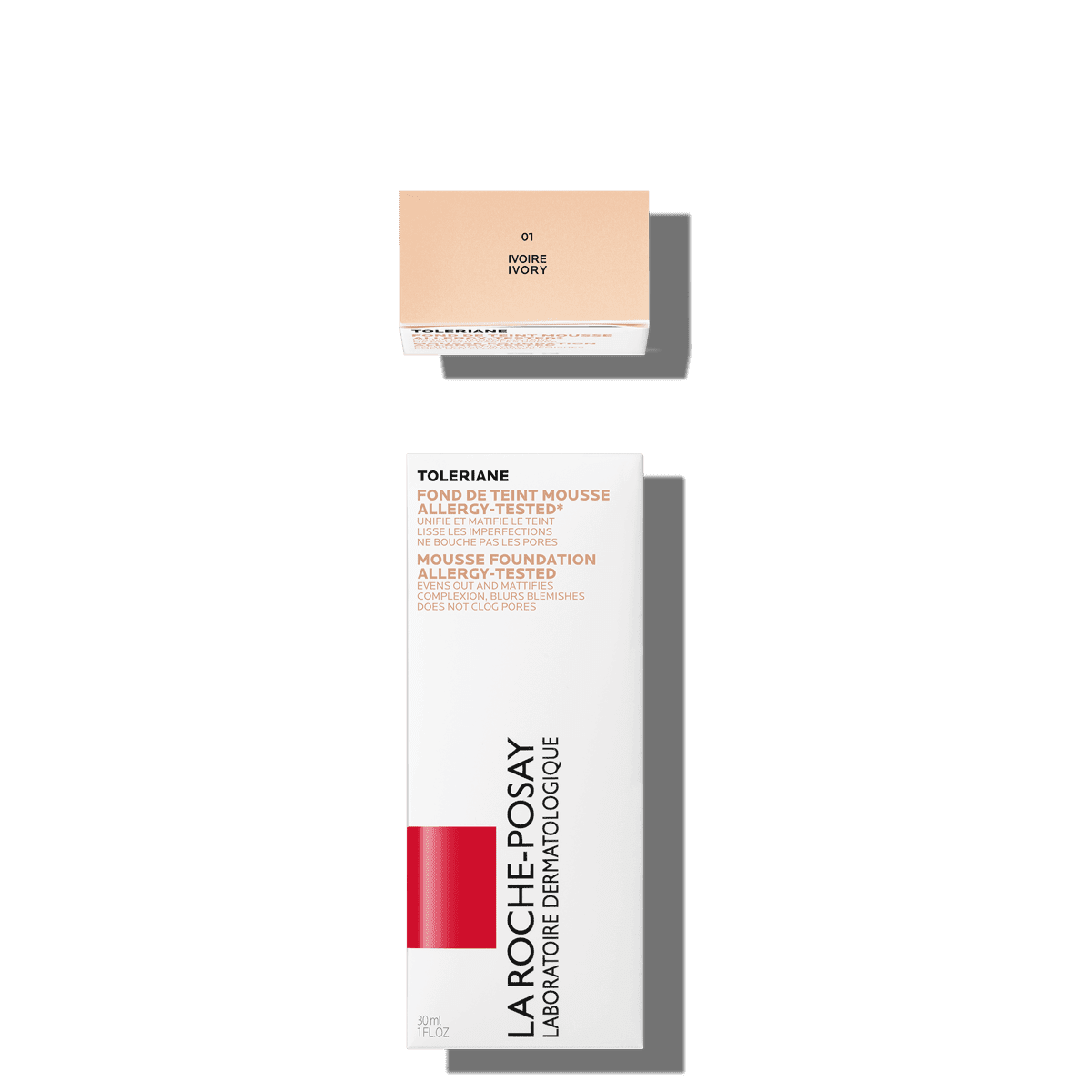 La Roche Posay Sensitive Toleriane Make up MOUSSE_FOUNDATION_01IVORY 3